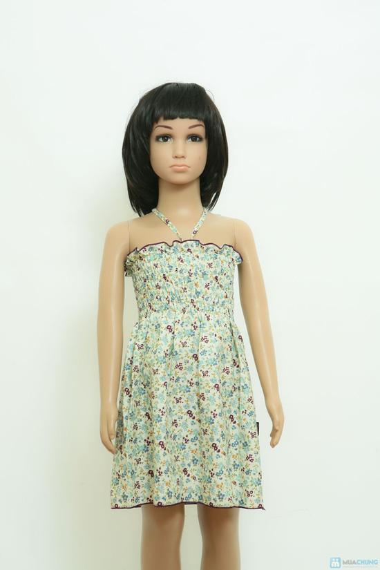 Váy thô hoa nhí đi biển cho bé - 4