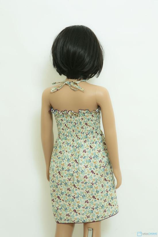 Váy thô hoa nhí đi biển cho bé - 5