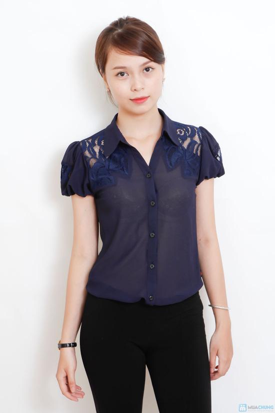 áo sơ mi phối ren - 11