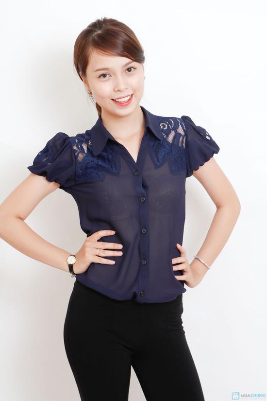 áo sơ mi phối ren - 12
