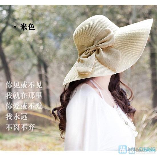 Mũ đi biển đính nơ điệu đà - 9