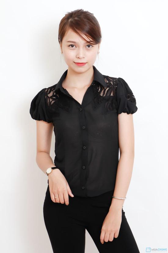 áo sơ mi phối ren - 5