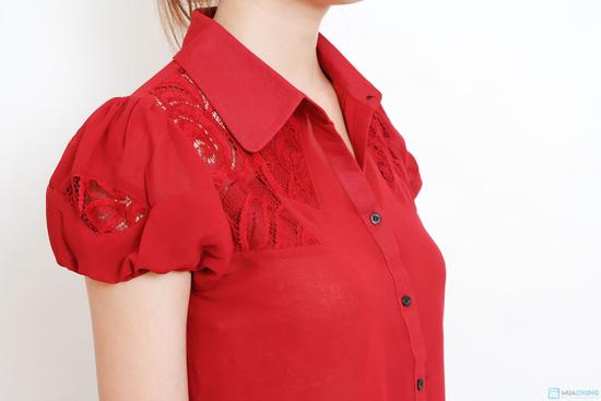 áo sơ mi phối ren - 4