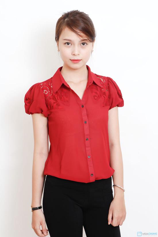 áo sơ mi phối ren - 3