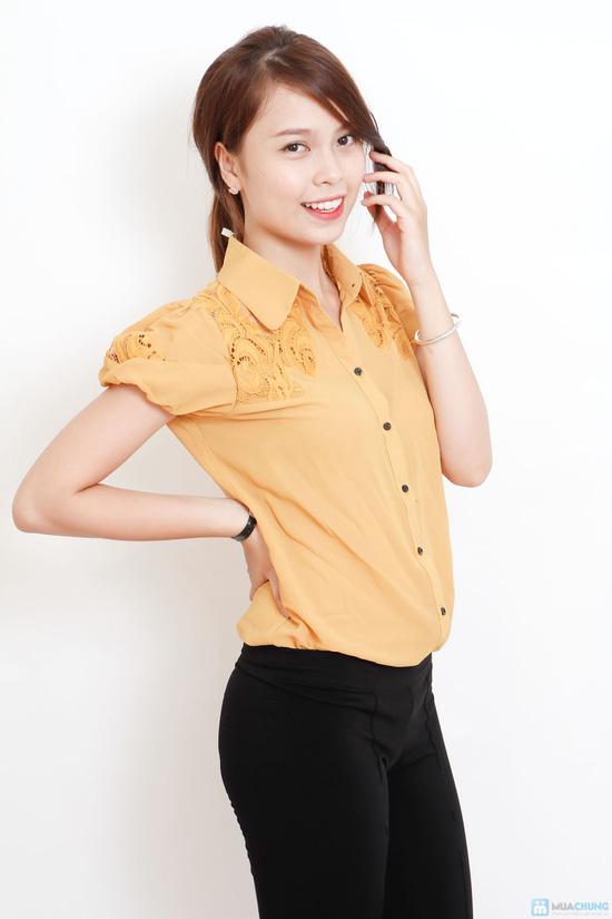 áo sơ mi phối ren - 9