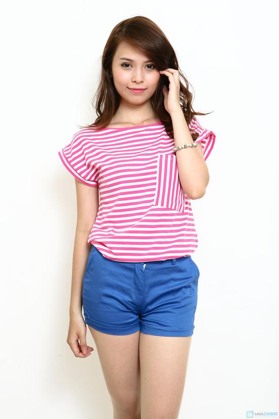 Áo cotton kẻ ngang - Phong cách cực xinh ngày hè - 5