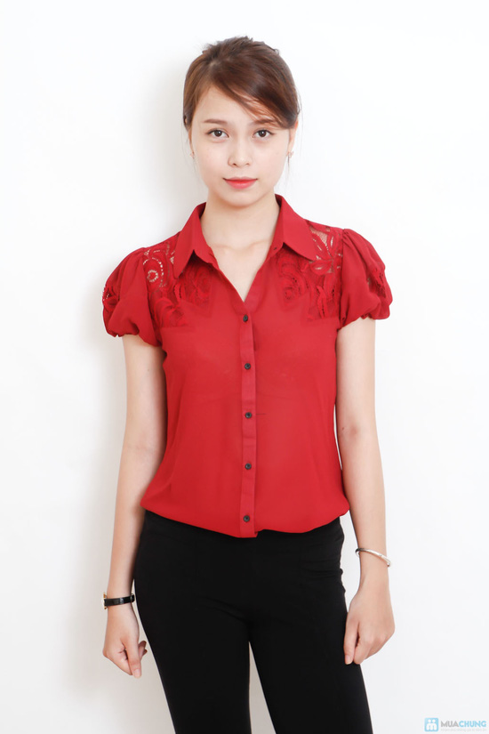 áo sơ mi phối ren - 1