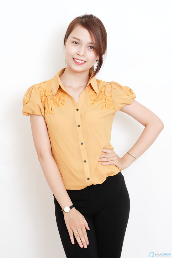 áo sơ mi phối ren - 10