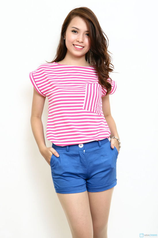Áo cotton kẻ ngang - Phong cách cực xinh ngày hè - 4
