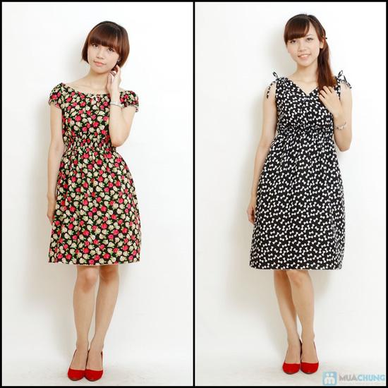 Combo 2 váy lanh họa tiết mùa hè - 10