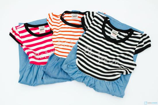 váy thun denim cho bé - 6