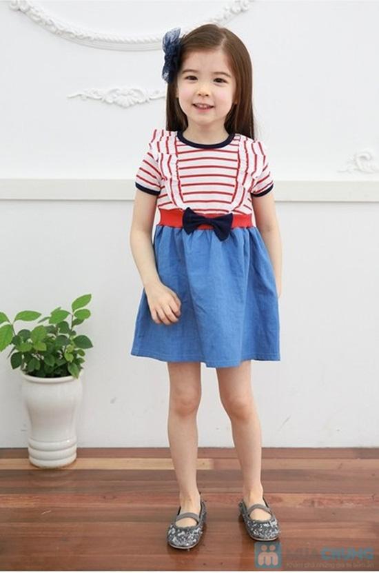 váy thun denim cho bé - 1