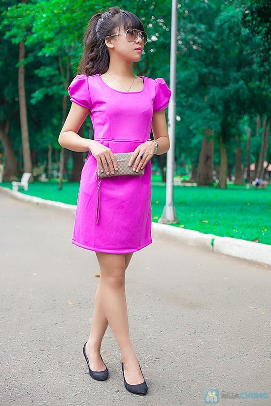 Đầm thun nữ có túi - 1