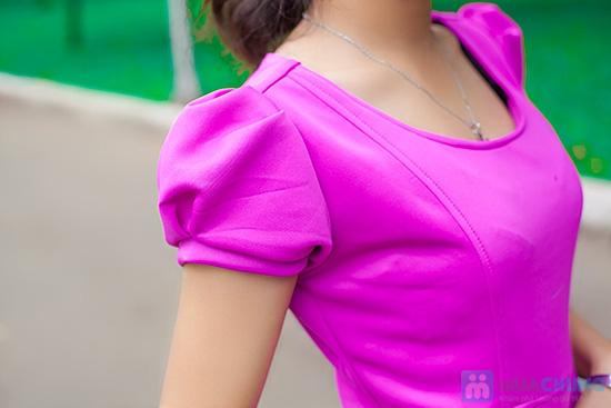 Đầm thun nữ có túi - 4