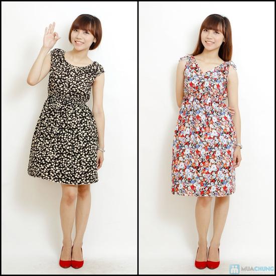 Combo 2 váy lanh họa tiết mùa hè - 9