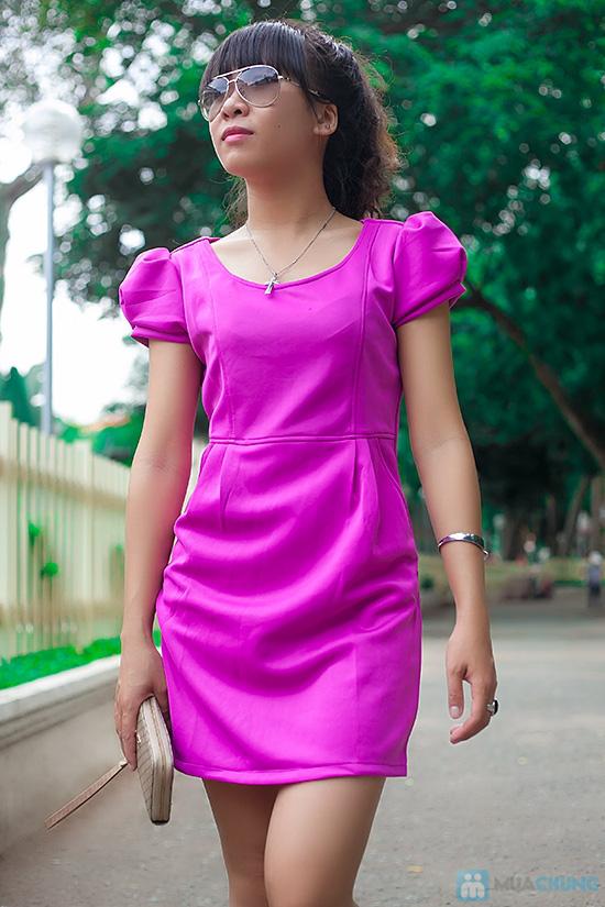 Đầm thun nữ có túi - 3