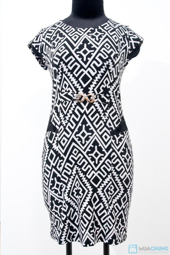 Váy thun pha ren đen - 8