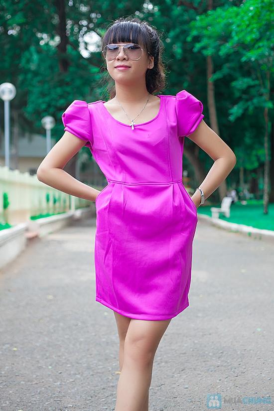 Đầm thun nữ có túi - 7