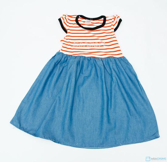váy thun denim cho bé - 2