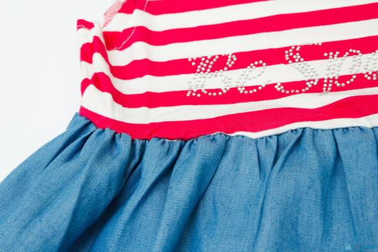 váy thun denim cho bé - 4