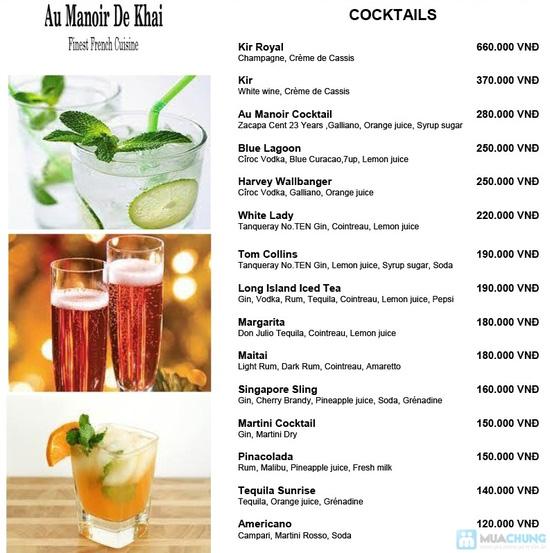 Chọn: 01 trong 02 set menu đặc biệt  dành cho 01 người tại Khaisilk - Au Manoir De Khai - Chỉ 700.000đ - 3