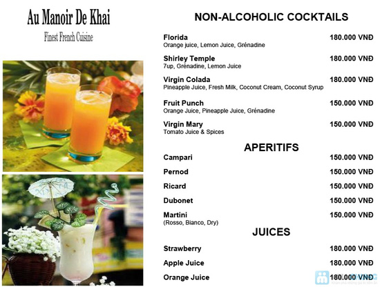 Chọn: 01 trong 02 set menu đặc biệt  dành cho 01 người tại Khaisilk - Au Manoir De Khai - Chỉ 700.000đ - 4