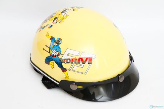 mũ bảo hiểm chính hãng thời trang cho bé HKT - 1