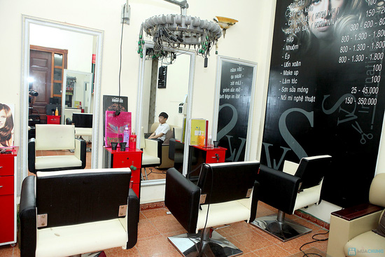 Trọn gói làm tóc kèm hấp tóc tại VS International - 2