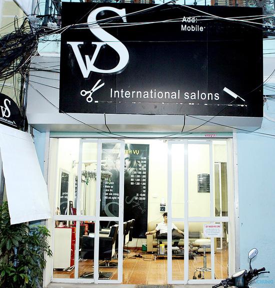 Trọn gói làm tóc kèm hấp tóc tại VS International - 1