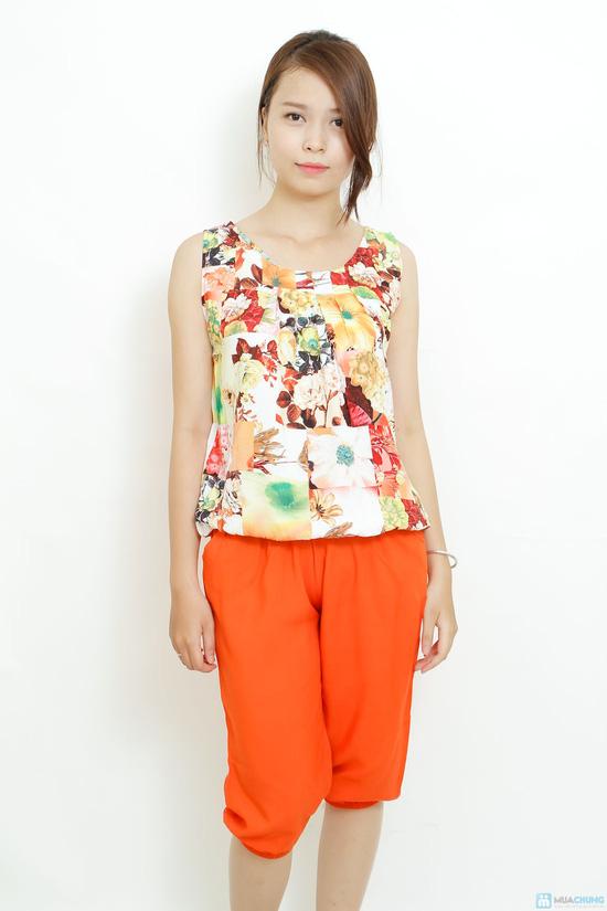 Bộ quần áo lanh 3D sát nách kiểu dáng Alibaba - 9