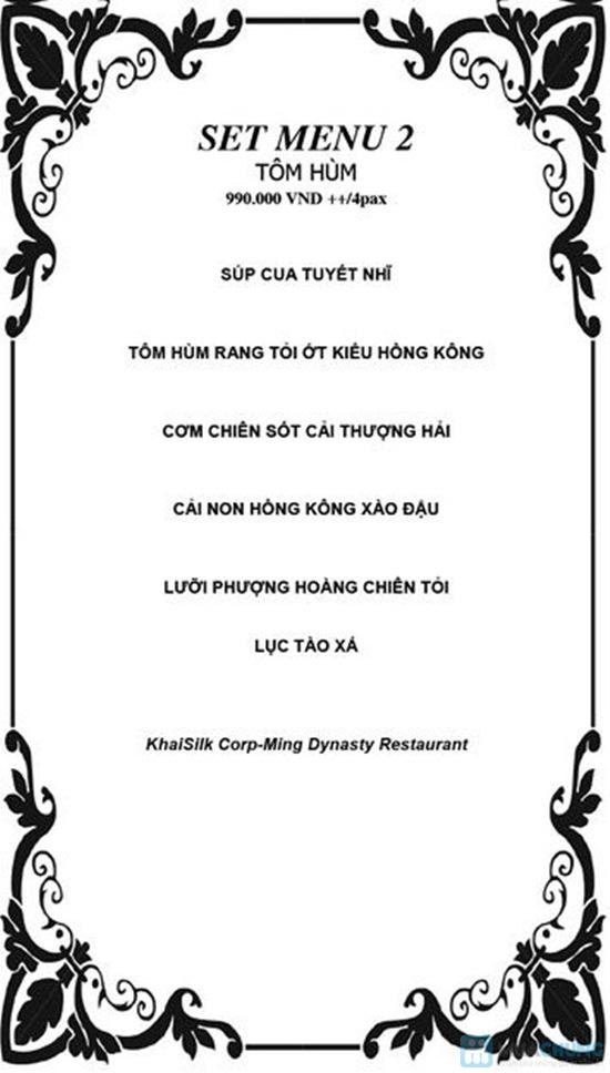 Set menu Tôm hùm (01 kg) tự chọn dành cho 04 người tại Nhà Hàng Ming Dynasty - 2