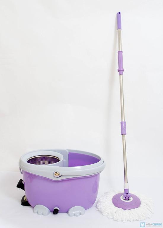 Cây lau nhà 360 độ Easy Mop lồng Inox cao cấp - 4
