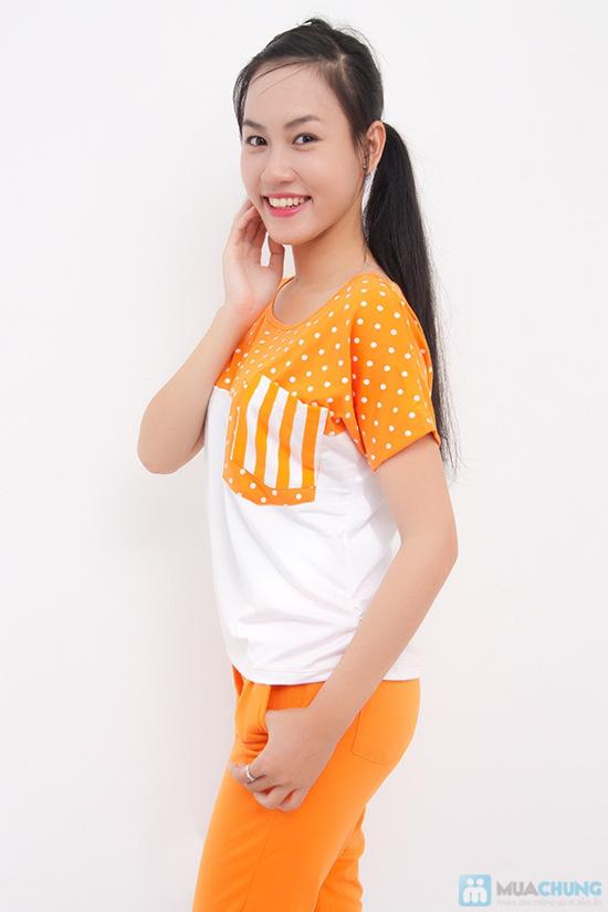 Bộ quần áo thể thao nữ phối màu dễ thương - Chỉ 135.000đ - 6