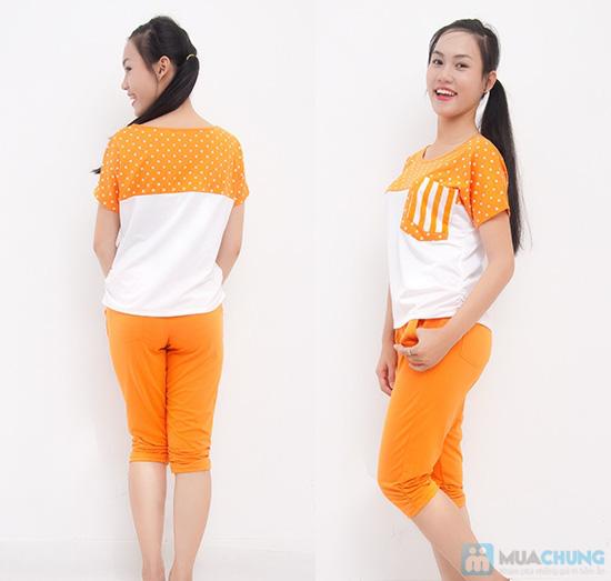 Bộ quần áo thể thao nữ phối màu dễ thương - Chỉ 135.000đ - 5