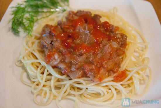 02 phần spaghetti (sốt bò/ cá) + 02 phần nước tự chọn tại UM Cafe - Chỉ 140.000đ - 4