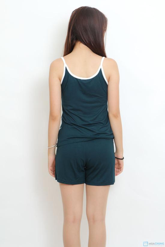 Bộ quần short áo 2 dây thêu - 7
