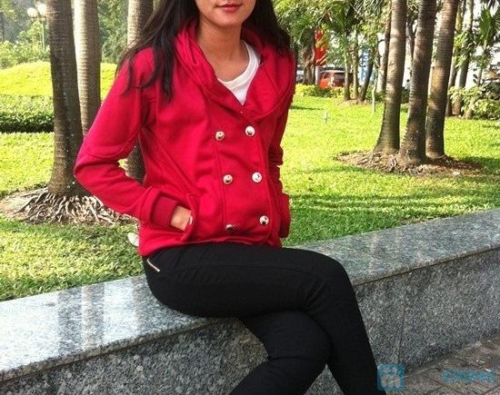 Áo khoác cài nút màu đỏ - Cho bạn gái xúng xính du xuân- Chỉ 115.000đ/01 chiếc - 1