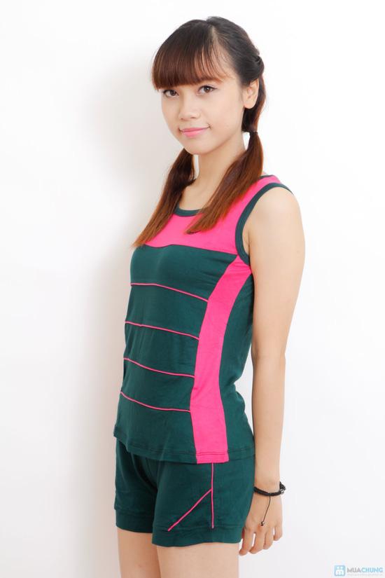Bộ mặc nhà cotton chun cho nữ - 6