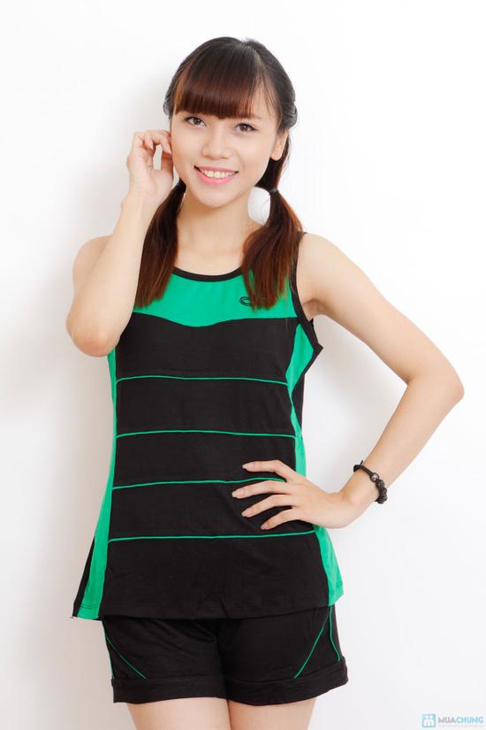 Bộ mặc nhà cotton chun cho nữ - 4