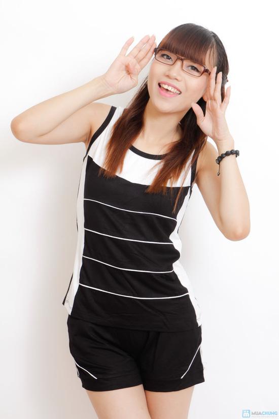Bộ mặc nhà cotton chun cho nữ - 3