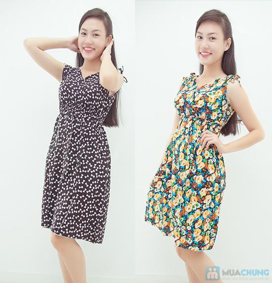 Combo 2 váy lanh họa tiết mùa hè - 5