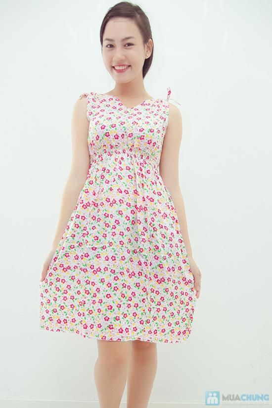 Combo 2 váy lanh họa tiết mùa hè - 1