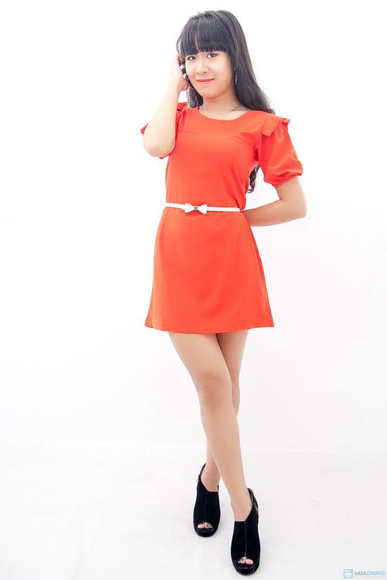 Đầm liền vai xếp li - Biến tấu nhẹ nhàng đem đến sự đáng yêu cho bạn gái - Chỉ 155.000đ/01 chiếc - 1