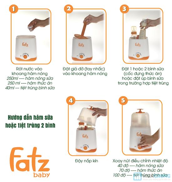 Máy hâm sữa 2 bình đa năng Fatzbaby - 10