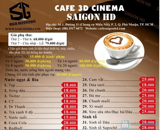Tận hưởng thế giới HD tại Cà phê 3D Cinema SAIGON - 1