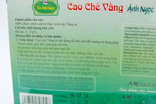 Combo 04 hộp cao chè Vằng Ánh Ngọc  - 5