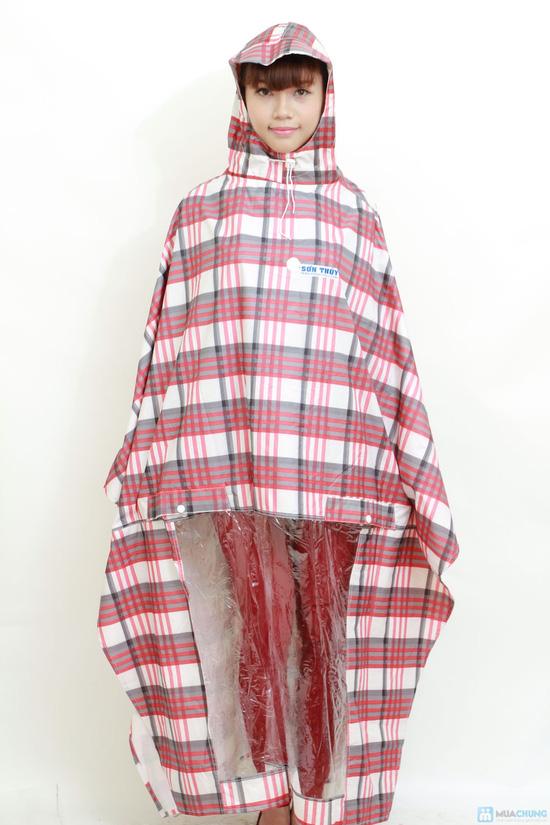 Áo mưa choàng Sơn Thủy 2 mũ K8 cao cấp - 2