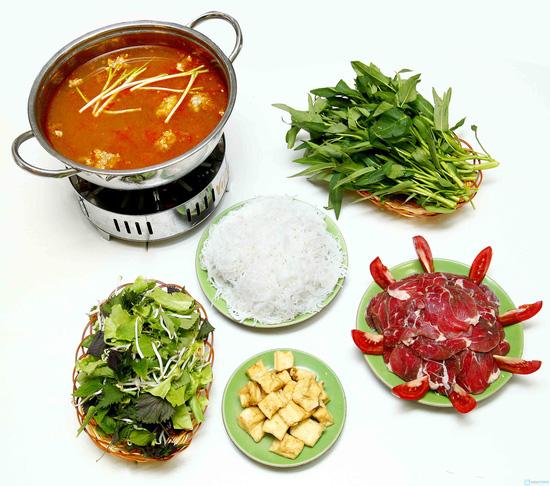 Set lẩu riêu cua bò cho 3-4 người tại nhà hàng Việt Quán - 1