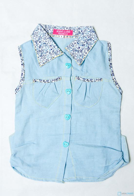 Combo 2 Áo sơ mi giả jeans cho bé gái 1-8 tuổi - 5