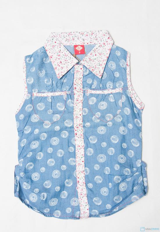 Combo 2 Áo sơ mi giả jeans cho bé gái 1-8 tuổi - 4